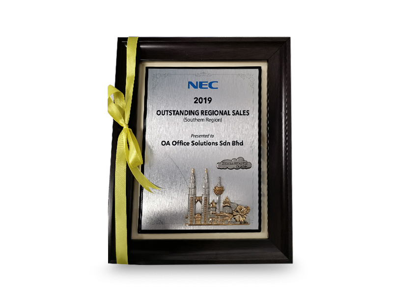 NEC Top Regional Sales (Southern) (2019)