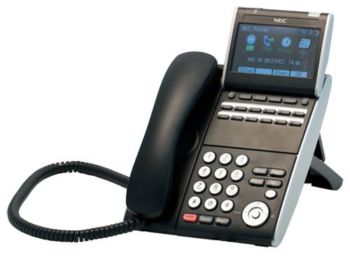 NEC DT730 ITL-12CG-3P (BK) TEL IP 12 Button Display Telephone-Gigabit-Color Screen