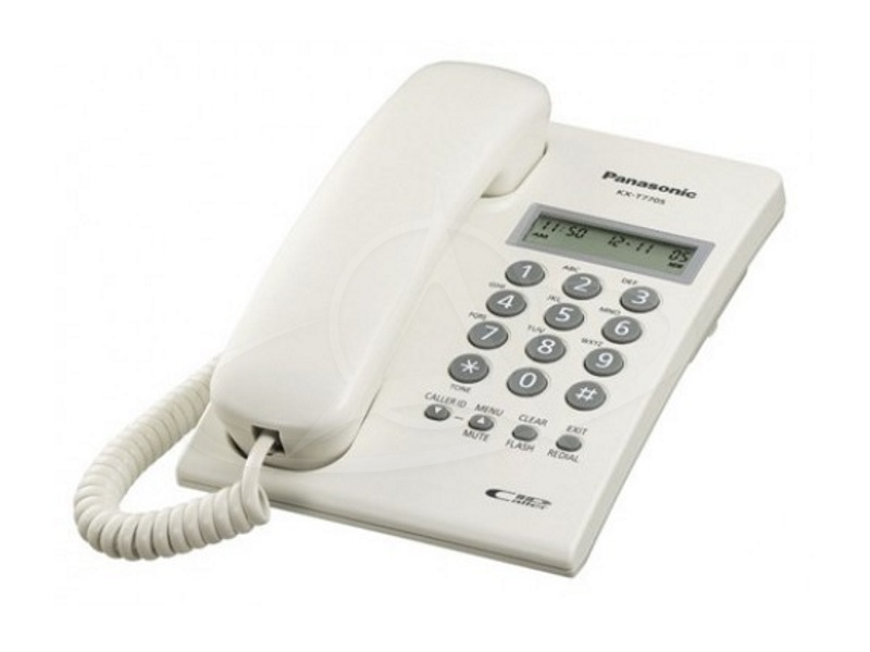 Panasonic KX-T7703X Single Line Phone With Caller ID Display (White)