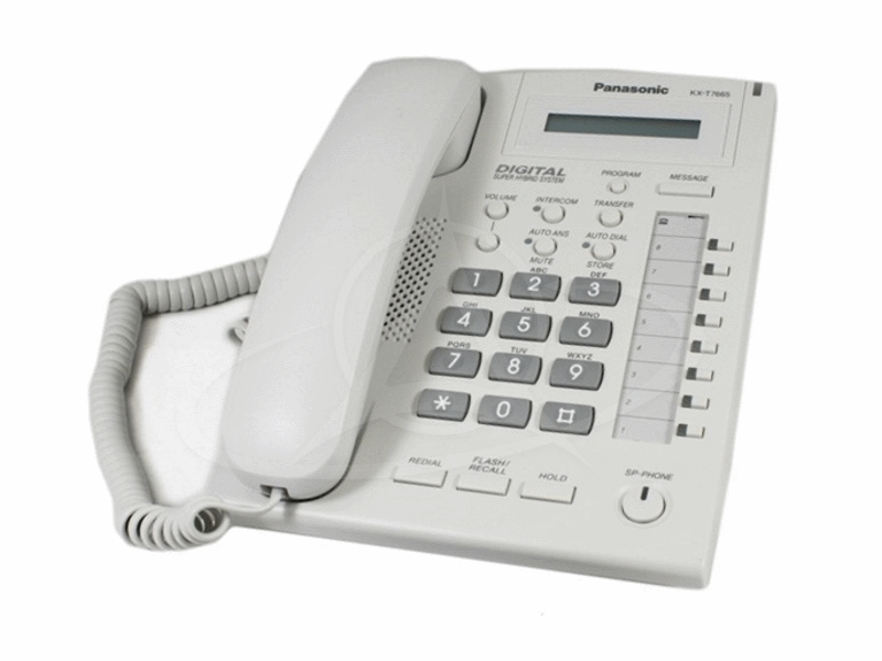 Panasonic KX-T7665X 8 Keys LCD Display Speaker Phone (White)