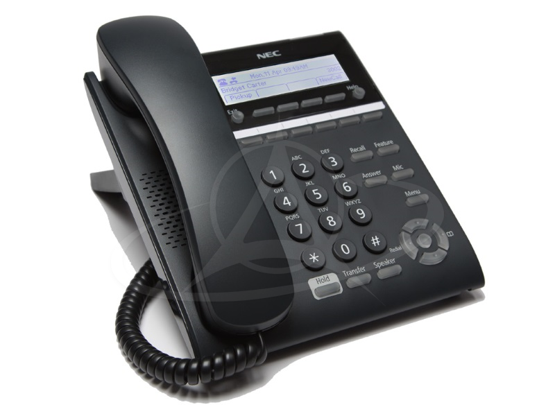 NEC DT820 ITY-6D-1P (BK) TEL 6 Button Display Telephone (Black)