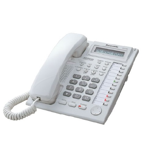 Panasonic KX-T7730X 12 Co, 3 Lines LCD Display Speaker Phone (White)