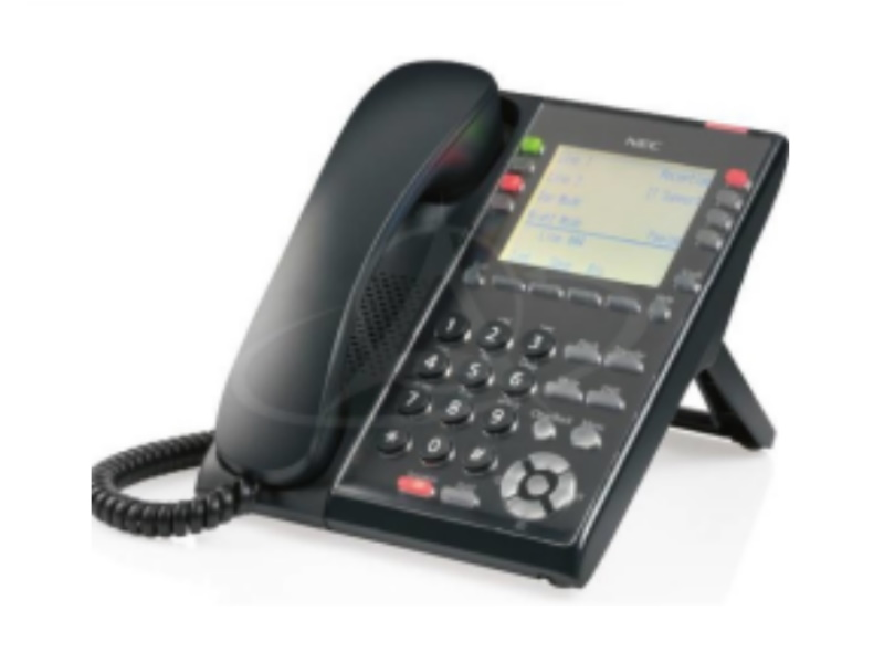 NEC IP7WW-8IPLD-C1 TEL (BK) 8 Keys IP Telephone (Black)