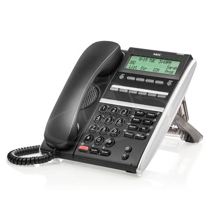 NEC DT410 DTZ-6DE-3P (BK) Digital 6 Button Display Telephone