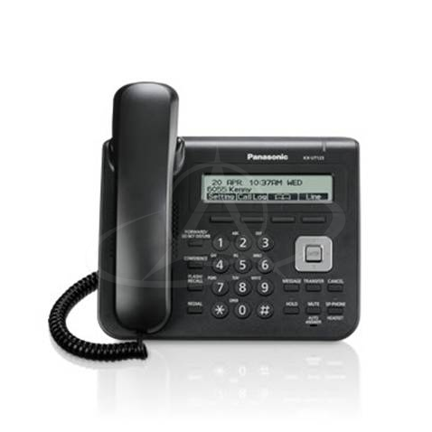 Panasonic KX-UT123 Standard dual port SIP telephone with large alphanumeric display
