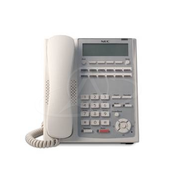 NEC IP4WW-12TXH-A TEL (WH) 12 Keys, LCD Digital Telephone (White)